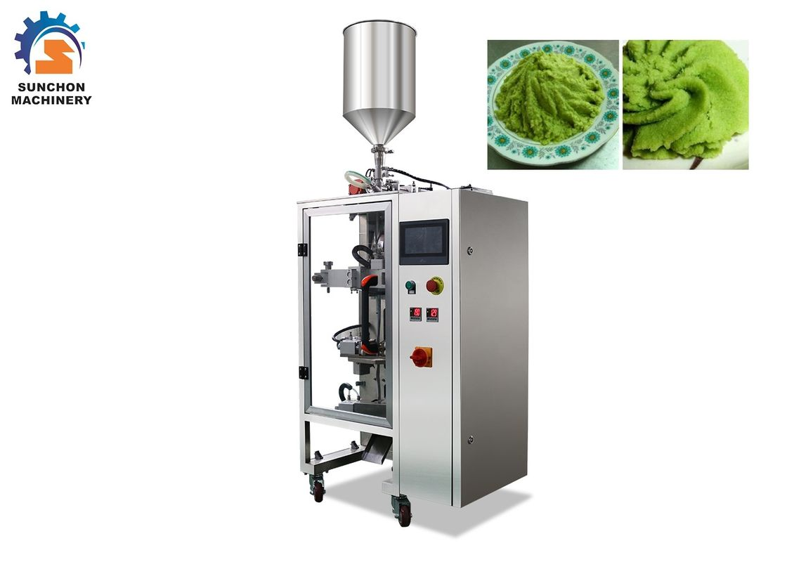 1 - 50 Gram Automatic Sachet Packing Machine For Wasabi Paste / Liquid Food