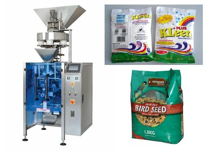 Granular Food Vertical Form Fill And Seal Packaging Machines 2000ML / Bag