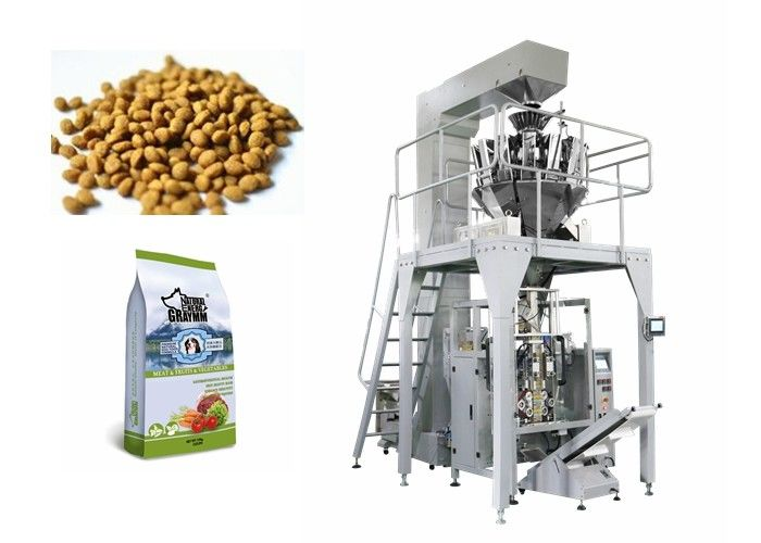 Stainless Steel Multihead Weigher Packing Machine For Popcorn Noodle / Snack Food