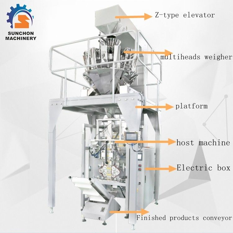 SUN -520 Stainless Steel Multiheads Weigher Weighing Popcorn Noodle Snack Food Puffy Food